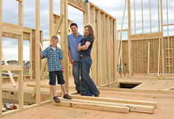 Happy Family Building Home